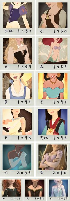 Disney Princesses- can't believe Snow White is that old! (Taylor swift edit by the looks of things)