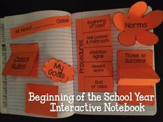 FREE Back to school/beginning of the year interactive notebook foldable for rules, procedures, and more
