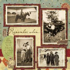 Heritage Scrapbooking - this is Creative Memoires Heritage paper collection