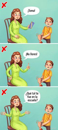 9 Ways to Punish a Child That Won't Damage Their Self-Esteem Teaching Kids, Kids Learning, Self Esteem Activities, Great Jokes, Funny Spanish Memes, Kids Behavior, Baby Hacks, Kids Education, Funny Comics