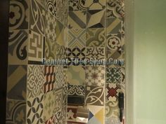 CTS patchwork cement tile. Mix all color.