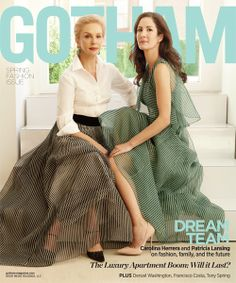 Dream Team: Mother and Daughter on the cover of #Gotham magazine in #CarolinaHerrera spring 2014