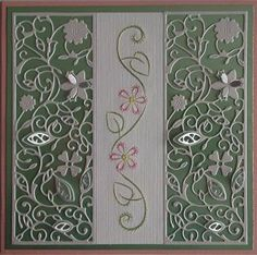 Stitched Pattern by Ann's Paper Art combined with Tattered Lace Floral Panel Die.