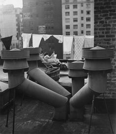 undr:  André Kertész West 20th street, New York. 1943
