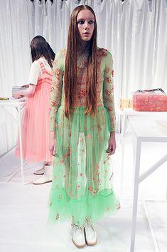 Molly Goddard SS16 #LFW http://www.vogue.com/fashion-shows/spring-2016-ready-to-wear/molly-goddard