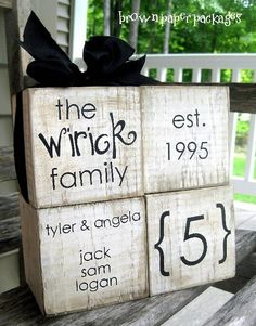 Wood Family Blocks