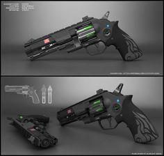http://peterku.deviantart.com/art/Nova-sci-fi-revolver-concept-630207978