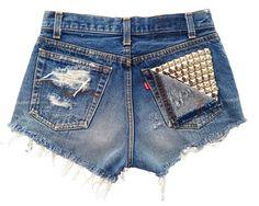 Omen Eye Store - Vega Short, $88.00 (http://www.omeneye.com/vega-short/)  omeneye, cut off shorts, vintage denim shorts, studded cut off shorts, cutoff shorts, shredded shorts, studded shorts, denim shorts, omen eye, destroyed high waisted shorts, jean cutoff shorts, high waisted studded denim shorts, vintage studded shorts, black cutoff shorts, high waisted studded shorts, high waisted shorts, studded short, vintage levi jean shorts