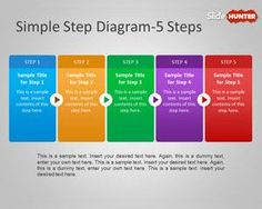 Simple Step Diagram Template for PowerPoint