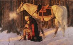 Arnold Friberg (December 1913 – July was an American illustrator and painter noted for his religious and patriotic works. He is perhaps best known for his 1975 painting The Prayer at Valley Forge, a depiction of George Washington praying at Valley Forge. Independance Day, Valley Forge, American Revolutionary War, God Bless America, Founding Fathers, Before Us, First Nations, American History, American Presidents