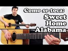Como tocar SWEET HOME ALABAMA en guitarra acústica TUTORIAL SUPER FACIL en español - YouTube
