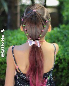 Little Girl Hairdos, Girls Hairdos, Lil Girl Hairstyles, Plaits Hairstyles, Hairstyles For School, Braided Hairstyles, Cool Haircuts For Girls, Hair Shows, Hair Beauty