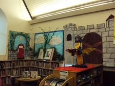 Imagine bulletin board library display. This is so cool!!