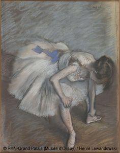 Edgar Degas, dançarino sentado, © RMN (Musée d'Orsay) / Hervé Lewandowski