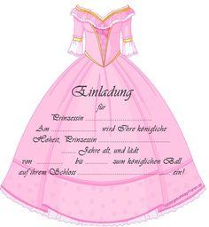 Einladung Für Prinzessin Geburtstag Kleid