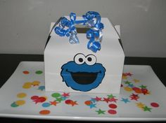 Cookie Monster Birthday Party Favor Boxes  by YourPartyShoppe, $24.00