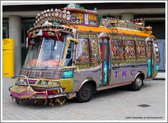 Decorated Indian bus. I <3 India.