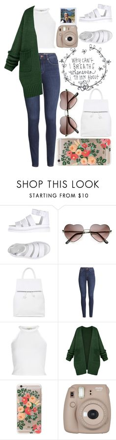"""""""First day of school!"""" by ginga-ninja ❤ liked on Polyvore featuring Dr. Martens, Topshop, H&M, River Island, Rifle Paper Co and Fujifilm"""