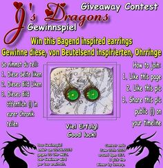 Giveaway at Jane's Dragons on Facebook: www.facbook.com/JanesDragons
