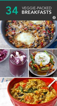 Get your morning dose of veggies #breakfast #healthy #recipes http://greatist.com/eat/healthy-breakfast-recipes-with-vegetables