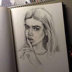 50 Ideas Art Inspiration Drawing Ideas Sketchbooks Illustrations For 2019 Portrait Sketches, Drawing Sketches, Art Drawings, Drawing Ideas, Drawing Tutorials, Photo Humour, Art Sketchbook, Pencil Art, Love Art