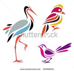 Find Stylized Birds Warblers stock images in HD and millions of other royalty-free stock photos, illustrations and vectors in the Shutterstock collection. Bird Stencil, Stencil Painting, Fabric Painting, Animal Line Drawings, Bird Drawings, Motif Art Deco, Art Deco Design, Bar Design, Mosaic Projects
