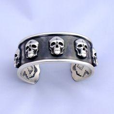 Solid Sterling Silver Southwestern Skull by SantaFeSilverworks, $1063.00