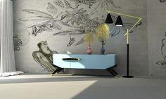 Mueble 3D Pintura metalizada