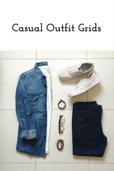 Today we're going to share coolest casual outfit grids with you today. Amazing casual outfit grids to help you look sharp. Casual School Outfits, Smart Casual Outfit, Stylish Mens Fashion, Mens Fashion Blog, Man Dressing Style, Outfit Grid, Casual Street Style, Menswear, Fashion Shorts