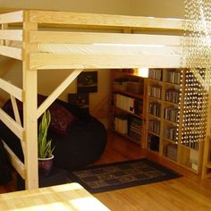 King-size loft bed