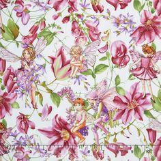 Flower Fairies - Magical Garden Fairies Metallic Yardage from Missouri Star Quilt Co