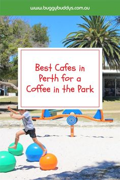A caffeine fix at a playground is a morning ritual enjoyed by parents all over Perth! Whether you're sipping on a much needed take away coffee whilst giving the kids a run, or meeting friends at a playground for a cheap play date in the great outdoors, or even after enjoying a family brunch at a tasty café – there's lots to choose from! Here's the Buggybuddys round up of the best cafes in Perth for a coffee in the park Tasty Cafe, Morning Ritual, Cool Cafe, Perth, Caffeine, The Great Outdoors, Playground, Parents, Brunch