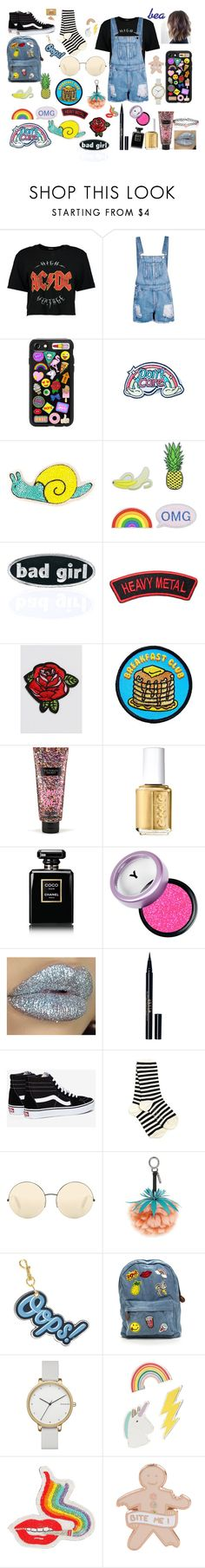 """""""grunge/90s look"""" by except ❤ liked on Polyvore featuring Boohoo, Casetify, Eye Candy, Olympia Le-Tan, C&D Visionary, maurices, Goblinko Megamall, Victoria's Secret, Essie and Chanel"""