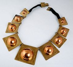 Vintage MEXICAN COPPER BRASS HUBERT HARMON NECKLACE
