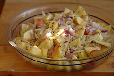 Savanyú káposzta saláta Vegan, Potato Salad, Cabbage, Chicken Recipes, Salads, Bbq, Tasty, Vegetables, Ethnic Recipes