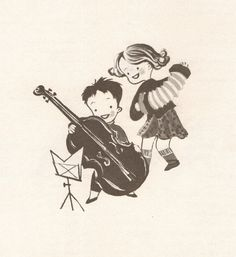 Music Round the Town illustrated by Val Samuelson, 1955.