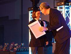 Ellie (Year 8) receiving her GCSE German certificate!