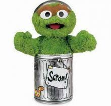eb7bb5088f3 Gund 075860 Sesame Street Oscar the Grouch with Organza Pull String Bag