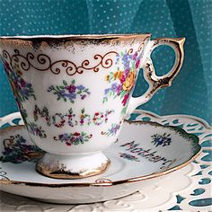 Vintage Tea Cup Japanese Tea Cup Set Mother by VintageTeacupShop