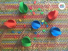 The colorful baskets with colorful eggs will help your child learning counting and colors. Creative Thinking, Spring Crafts, Crafts To Do, Quality Time, Kids Learning, Counting, Your Child, The Help, Baskets
