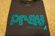 Ovarian Cancer Awareness  Appliqued by MyGiddyAuntSewCrazy on Etsy