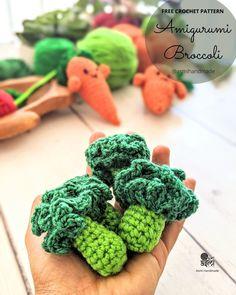 Amigurumi Broccoli free crochet pattern   Asmi Handmade Crochet Fruit, Crochet Food, Crochet Crafts, Crochet Projects, Free Crochet, Knit Crochet, Crochet Ornaments, Crochet Snowflakes, Food Patterns