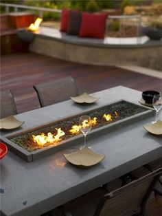 fire table design in Backyard Landscaing Ideas-Attractive Fire Pit Designs Homesthetics