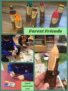 Most up-to-date Photographs Whittled Forest Friends- small achievable task Strategies Turning Woodworking From Hobby to Business Woodworking can be an art/craft, depending on how you vi Forest School Activities, Nature Activities, Activities For Kids, Crafts For Kids, Outdoor Education, Outdoor Learning, Outdoor Classroom, Outdoor School, Forest Friends