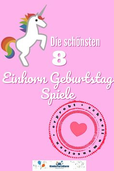 Einhorn Kindergeburtstag Spiele Discover the 8 most beautiful unicorn children's birthday games that are guaranteed to trigger the children's party alarm! So your party will be an unforgettabl Birthday Games For Kids, Birthday Crafts, It's Your Birthday, Birthday Cake, Barbie Birthday, Unicorn Birthday, Unicorn Party, Birthday Table Decorations, Cake Decorations