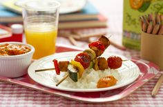Easy to make and tasty too, these kebabs can be served with a tangy tomato dipping sauce. Older kids will have fun helping you to make these!
