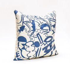 Scatter Pattern Pillow - Blue on Cream from Beech Hall #egypt #danielle #kroll
