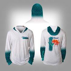 77f8119b Mens Womens Unisex Solar Performance Custom Graphics Novelty Streetwear  Apparel design team shirt with integrated Hood - Mermaid