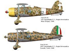 """. . . O Fiat CR.42 """"Falco"""" (Falcão) foi um caça biplano usado primariamente pela Regia Aeronautica Italiana (Real Força Aérea ..."""