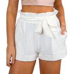 Hot Stylish Women Lady's Sexy Summer Casual Shorts High Waist Short Beach - Mein Stil Bow Shorts, Belted Shorts, Loose Shorts, Sexy Shorts, High Waisted Shorts, Casual Shorts, Mini Shorts, Women Shorts, Frill Shorts
